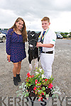 Amanda Buckley, Connecticut, Aidan Whelan, Ballyduff at the Castleisland Mart Calf Show on Saturday