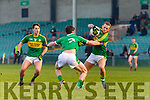 Barry John Keane Kerry in action against Daniel Daly Limerick in the Final of the McGrath Cup at the Gaelic Grounds on Sunday.