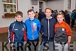 "At the Blennervile School History Book Launch ""A Story Worth Telling"", l-r  Dillon Griffin, Danny Greaney, Oisin Murray and martin Laucher current pupils at the  old school on Saturday"