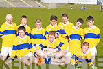 CHAMPIONS: The Ardfert boys who were champions in the INTO 7s County School football finals on Tuesday at the Austin Stack Park, Tralee. Front l-r: Kevin Shanahan, Michael O'Leary and Gearoid Sheehan. Back l-r: Patrick McElligott, Brendan O'Connor, Paudie Casey, Darren McGarty, Fionn Kavanagh (Ennis), Thomas Nolan and Eoghan Courtney.   Copyright Kerry's Eye 2008