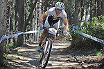 27.07.2013 La Massana, Andorra. UCI Mountain Bike World Cup. Picture show  Florian Vogel (SUI) in action during Cross-Country Final at Vallnord