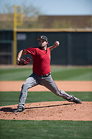 Arizona Diamondbacks relief pitcher Josh Taylor (50) delivers a pitch to the plate during a Minor League Spring Training intrasquad game at Salt River Fields at Talking Stick on March 12, 2018 in Scottsdale, Arizona. (Zachary Lucy/Four Seam Images)