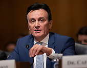 Pascal Soriot, Executive Director and Chief Executive Officer, AstraZeneca appears before the Senate Committee on Finance for a hearing on prescription drug pricing on Capitol Hill in Washington, DC, February 26, 2019. Credit: Chris Kleponis / CNP