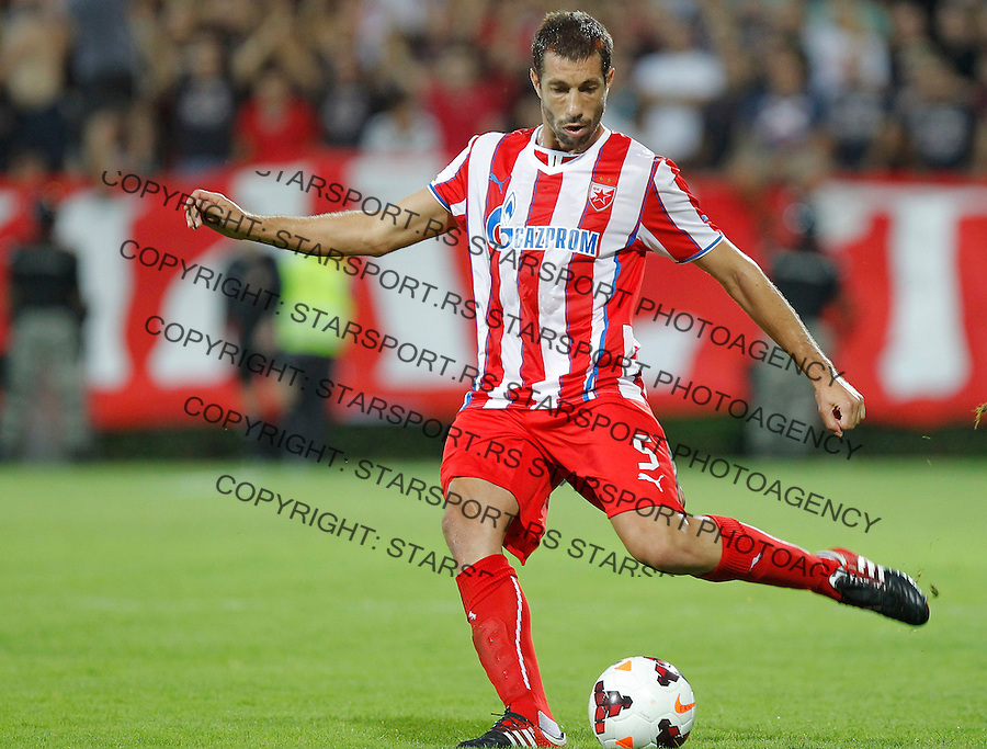 Fudbal Super liga season 2013-2014<br /> Napredak v Crvena Zvezda <br /> Nikola Mijailovic<br /> Krusevac, 24.08.2013.<br /> foto: Srdjan Stevanovic/Starsportphoto &copy;
