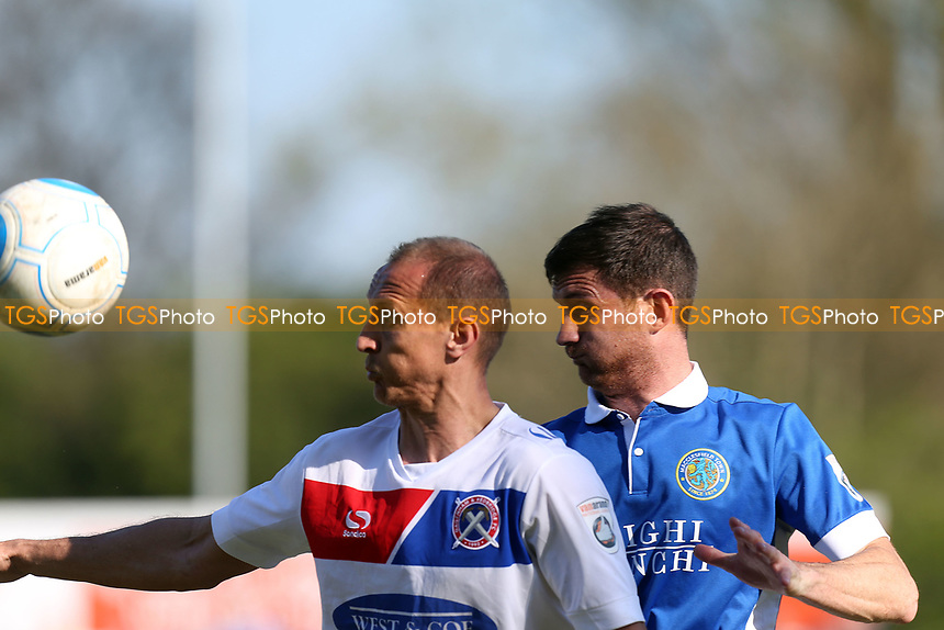George Pilkington of Macclesfield Town and Paul Benson of Dagenham and Redbridge during Macclesfield Town vs Dagenham & Redbridge, Vanarama National League Football at the Moss Rose Stadium on 8th April 2017