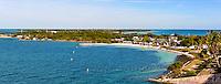 US, Florida Keys. Bahia Honda State Park. Stitched panorama.