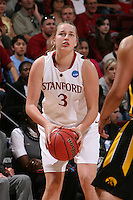 STANFORD, CA - MARCH 22:  Mikaela Ruef of the Stanford Cardinal during Stanford's 96-67 win over Iowa in the second round of the NCAA Women's Basketball Tournament at Maples Pavilion in Stanford, California.