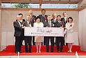 (L-R) Hisashi Hieda, Masanobu Komoda, Yuriko Koike, Yoshiro Mori, Hirokazu Matsuno, Tamayo Marukawa, OCTOBER 7, 2016 : The Tokyo 2020 Organising Committee and Mitsui Fudosan held a Opening ceremoy of Tokyo 2020 Cultural Olympiad in Tokyo, Japan. (Photo by Yusuke Nakanishi/AFLO SPORT)