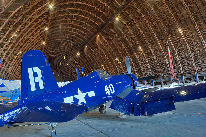 Chance Vought F4U Corsair aricraft. Tillamook Air Museum