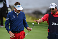 Ian Poulter (GBR) after sinking his putt on 8 during round 1 of the 2019 US Open, Pebble Beach Golf Links, Monterrey, California, USA. 6/13/2019.<br /> Picture: Golffile | Ken Murray<br /> <br /> All photo usage must carry mandatory copyright credit (© Golffile | Ken Murray)