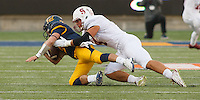 Berkeley- November 22, 2014: Blake Martinez during the Stanford vs Cal at Memorial Stadium in Berkeley Saturday afternoon<br /> <br /> The Cardinal defeated the Bears 38 - 17
