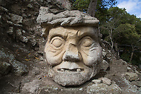 Wise Man's Head, Copan, Honduras