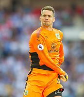 Burnley Tom Heaton celebrating after  Chris Wood scoring for Burnley  during the Premier League match between Tottenham Hotspur and Burnley at White Hart Lane, London, England on 27 August 2017. Photo by Andrew Aleksiejczuk / PRiME Media Images.