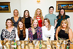 Ladies of the Tiger Basketball club celebrating a very successful year with an evening out in Bella Bia on Friday.<br /> Seated l to r: Emer Reen, Michelle Culloty, Ellen Egan, Rebecca Nardone and Mairead O'Connor.<br /> Back l to r: Isabelle Lynch, Sinead O'Hagan, Ciara O'Regan, Joyce O'Boyle and Una Flynn.