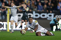Semesa Rokoduguni of Bath Rugby scores the match-winning try. Aviva Premiership match, between Exeter Chiefs and Bath Rugby on October 30, 2016 at Sandy Park in Exeter, England. Photo by: Patrick Khachfe / Onside Images
