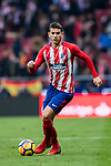 Lucas Hernandez of Atletico de Madrid in action during the La Liga 2017-18 match between Atletico de Madrid and Girona FC at Wanda Metropolitano on 20 January 2018 in Madrid, Spain. Photo by Diego Gonzalez / Power Sport Images