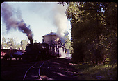 D&amp;RGW #487 K-36 at water tank in Chama.<br /> D&amp;RGW  Chama, NM  6/29/1965