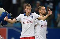 FUSSBALL   1. BUNDESLIGA   SAISON 2013/2014   9. SPIELTAG Hamburger SV - VfB Stuttgart                               20.10.2013 Marcell Jansen (li) und Pierre-Michel Lasogga (re, beide Hamburger SV)