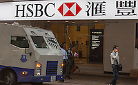 An exterior shot of HSBC, Central district, Hong Kong, China, 28 April 2014.