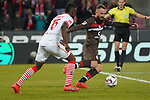 08.02.2019, RheinEnergieStadion, Koeln, GER, 2. FBL, 1.FC Koeln vs. FC St. Pauli,<br />  <br /> DFL regulations prohibit any use of photographs as image sequences and/or quasi-video<br /> <br /> im Bild / picture shows: <br /> Jhon Córdoba (FC Koeln #15),   im Zweikampf gegen  Marvin Knoll (St Pauli #5), <br /> <br /> Foto © nordphoto / Meuter