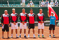 Austria, Kitzbühel, Juli 17, 2015, Tennis, Davis Cup, Presentation of the teams: team Austria<br /> Photo: Tennisimages/Henk Koster