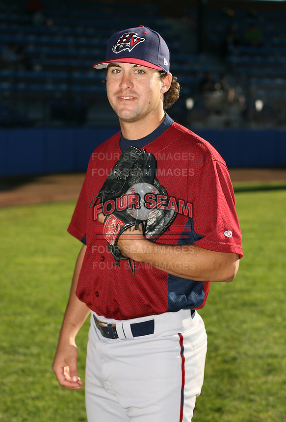 Jason Ragan of the Hudson Valley Renegades, Class-A affiliate of the Tampa Bay Devil Rays, during New York-Penn League baseball action.  Photo by Mike Janes/Four Seam Images
