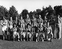 1978: Stanford Field Hockey Team: Front Row (left to right): Paula Mishima, Nancy Jackson, Jeanine Valadez, Amanda Read (capt.), Kelly Westerwick, Lynn Keyser.  Back Row (l-r): Lewis Alexander (asst. coach), Jessie Gerrard, Lisa Kimball, Kristi Johnson, Nancy White, Sukie Jackson, Alison King, Liz Maxwell, Buffie Berger, Barbara Longstreth (head coach).