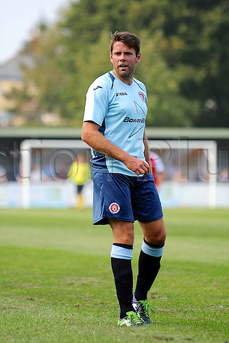 07.09.2014.  Poole, England. Charity match in aid of MND sufferer Andrew Culliford. Ex-England player James Beattie.
