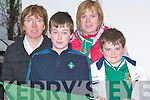 COLD: Enjoying the under 16 International Soccer between Ireland and Germany at Pat Kennedy Park, Listowel on very cold Thursday l-r: Rose Wall, Robert,Christine and Andrew Purcell. ..   Copyright Kerry's Eye 2008
