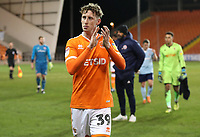 Blackpool's Joe Bunney at the end of todays match<br /> <br /> Photographer Rachel Holborn/CameraSport<br /> <br /> The EFL Checkatrade Trophy Group C - Blackpool v Accrington Stanley - Tuesday 13th November 2018 - Bloomfield Road - Blackpool<br />  <br /> World Copyright &copy; 2018 CameraSport. All rights reserved. 43 Linden Ave. Countesthorpe. Leicester. England. LE8 5PG - Tel: +44 (0) 116 277 4147 - admin@camerasport.com - www.camerasport.com