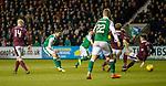 9.3.2018: Hibs v Hearts:<br /> Jamie Maclaren scores goal no 2 for Hibs