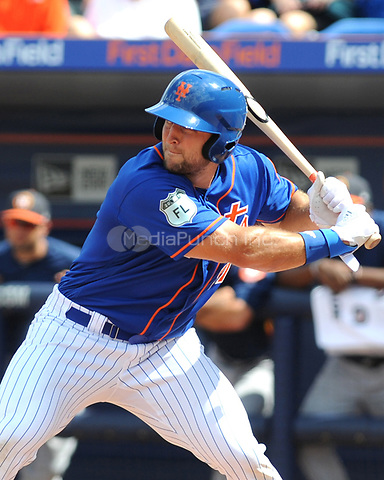 PORT ST. LUCIE, FL - MARCH 10: TIm Tebow pictured during a Major League Baseball 2017 Spring Training Game between the New York Mets and the Houston Astros at First Data Field in Port St. Lucie, Florida on March 10, 2017. Credit: John Palmer/MediaPunch