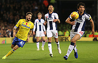 Leeds United's Mateusz Klich and West Bromwich Albion's Ahmed Hegazy chase down the ball<br /> <br /> Photographer David Shipman/CameraSport<br /> <br /> The EFL Sky Bet Championship - West Bromwich Albion v Leeds United - Saturday 10th November 2018 - The Hawthorns - West Bromwich<br /> <br /> World Copyright © 2018 CameraSport. All rights reserved. 43 Linden Ave. Countesthorpe. Leicester. England. LE8 5PG - Tel: +44 (0) 116 277 4147 - admin@camerasport.com - www.camerasport.com