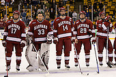 Tyler Magura (Harvard 17), Kyle Richter (Harvard 33), David MacDonald (Harvard 14), Joe Smith (Harvard 29), Matt McCollem (Harvard 23) - The Boston College Eagles defeated the Harvard University Crimson 6-5 in overtime on Monday, February 11, 2008, to win the 2008 Beanpot at the TD Banknorth Garden in Boston, Massachusetts.