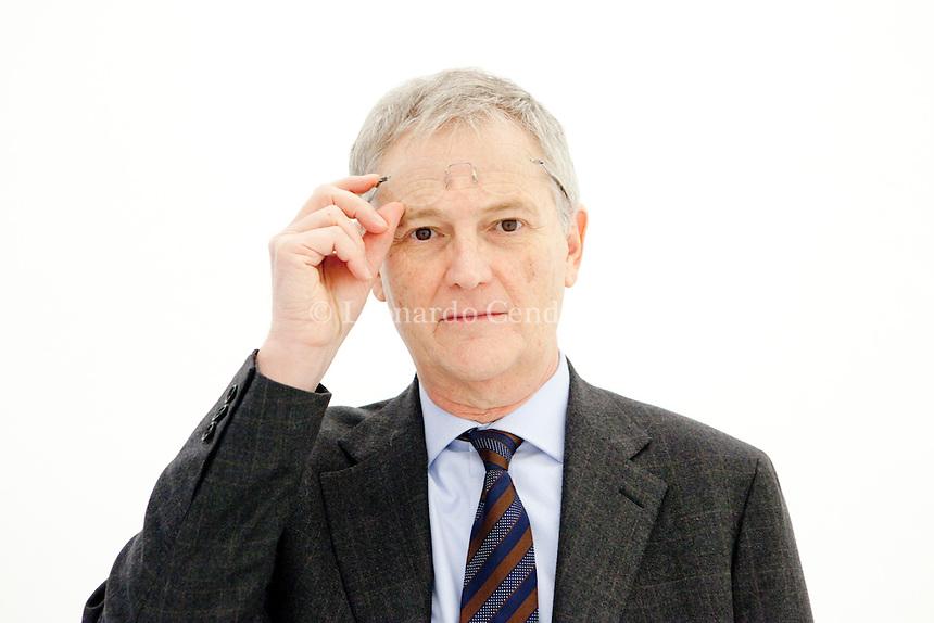 Maurizio Ferrara, giornalista italiano e professore di Scienze Politiche. Milano, 15 novembre 2013. © Leonardo Cendamo