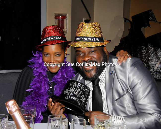 Broadway performer Phillip Boykin and Felicia - New Year's Eve 2016 at The Copacabana, New York City, New York. (Photo by Sue Coflin/Max Photos)  suemax13@optonline.net