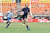 2nd February 2019, Spotless Stadium, Sydney, Australia; HSBC Sydney Rugby Sevens;  Wales versus Scotland; Sam Pecqueur of Scotland runs for the try line in the match against Wales