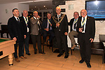 The annual election of the new Portreeve of Laugharne, Carmarthen, Wales on the first Monday following Michaelmas. 2019. Takes place in the Big Court of the town hall. In 2019 David Lynn Jones became the Portreeve. David Lynn Jones and Aldermen in the bar of  the Cross House Inn.