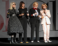 LAS VEGAS, NV - APRIL 25: (L-R) Actors Diane Keaton, Mary Steenburgen, Candice Bergen and Jane Fonda onstage during the Paramount Pictures presentation at CinemaCon 2018 at The Colosseum at Caesars Palace on April 25, 2018 in Las Vegas, Nevada. (Photo by Frank Micelotta/PictureGroup)