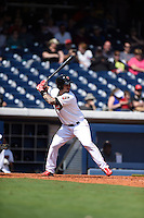 ***Temporary Unedited Reference File***Nashville Sounds first baseman Rangel Ravelo (25) during a game against the Iowa Cubs on May 4, 2016 at First Tennessee Park in Nashville, Tennessee.  Iowa defeated Nashville 8-4.  (Mike Janes/Four Seam Images)