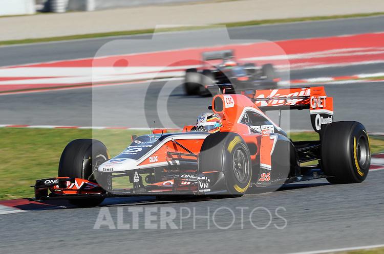 18.02.2011, Circuit de Catalunya, Barcelona, ESP, Formel 1 Test 3 2011,  im Bild Jerome De Ambrosio (BEL) Marussia Virgin Racing Team Foto © nph / Dieter Mathis