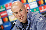 Real Madrid's coach Zinedine Zidane in press conference after training session. May 1,2017.(ALTERPHOTOS/Acero)