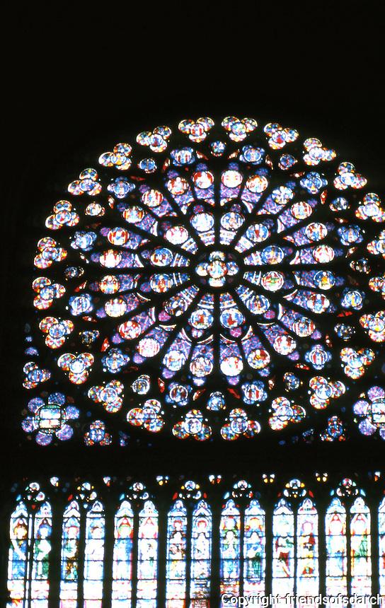 Paris: Notre Dame--Rose Window, South Transept. Photo '87.