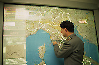Sala operativa per il monitoraggio degli incendi..Operations room to monitor the fire.......