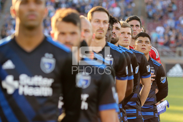 Stanford, CA - Saturday June 30, 2018: San Jose Earthquakes, Nick Lima prior to a Major League Soccer (MLS) match between the San Jose Earthquakes and the LA Galaxy at Stanford Stadium.