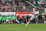 12.07.2017, Parkstadion, Zell am Ziller, AUT, TL Werder Bremen 2017 - FSP SV Werder Bremen (GER) vs Wolverhampton Wanderers (ENG)<br /> <br /> im Bild<br /> Philipp Bargfrede (Werder Bremen #44) mit Torschuss , <br /> <br /> Foto &copy; nordphoto / Ewert