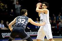 GRONINGEN - Basketbal, Donar - Cluj ,  Europe League, seizoen 2017-2018, 24-01-2018,  Donar speler Sean Cunningham met Cluj  speler  Nandor Kuti