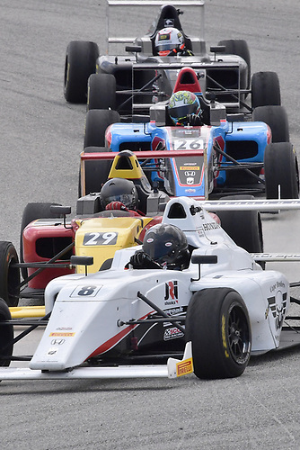 2017 F4 US Championship<br /> Rounds 1-2-3<br /> Homestead-Miami Speedway, Homestead, FL USA<br /> Sunday 9 April 2017<br /> #8 Kyle Kirkwood followed by #29 Jonathan Scarallo, #26 Sam Paley <br /> World Copyright: Dan R. Boyd/LAT Images