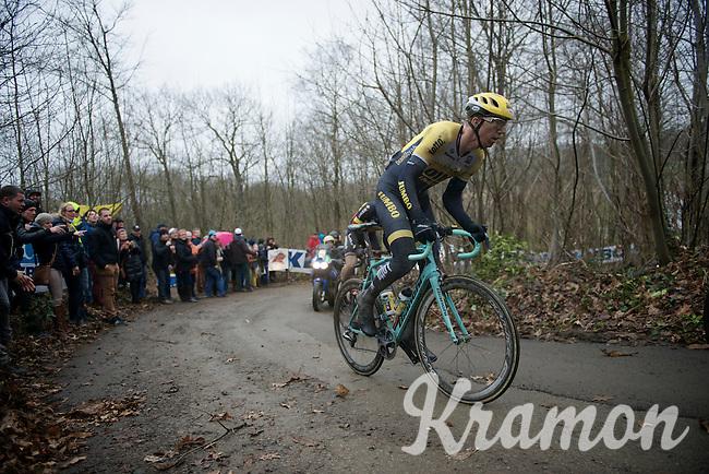 Sep Vanmarcke (BEL/LottoNL-Jumbo) up the steep Baneberg<br /> <br /> 77th Gent-Wevelgem 2015