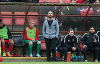 Leyton Orient Omer Riza takes charge as Manager for the first time (Orient's 5th of the Season) looks to the sky during the Sky Bet League 2 match between Leyton Orient and Wycombe Wanderers at the Matchroom Stadium, London, England on 1 April 2017. Photo by Andy Rowland.